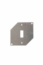 Thermoplastic/Heavy Cast Aluminum Covers Spec Grade, Mounting Plate for Toggle Switch, Gray