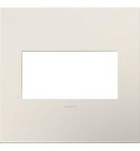 adorne® Satin Light Almond Two-Gang Screwless Wall Plate