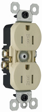15A/125V Weather-Resistant Duplex Receptacle, Ivory