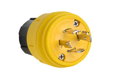 26W74 Watertight NEMA 4X/6P Locking Plug,Yellow