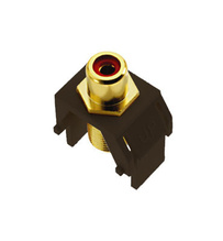 Red RCA to F-Connector, Brown