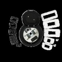 6AT Prewired A/V Evolution™ Poke Thru Device, Flush Style Cover, Black