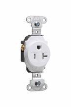 Tamper-Resistant Construction Spec Grade Single Receptacles, Back & Side Wire, 20A, 125V, White