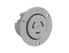 20 Amp NEMA L1020 Outlet, Gray