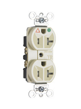 Tamper-Resistant Isolated Ground Hospital Grade Receptacle, Back & Side Wire, 20A, 125V, Ivory