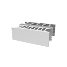 Horizontal Cable Manager, Double Sided, 4 rack unit, White