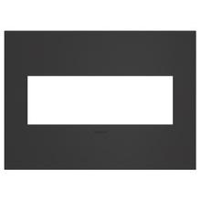 adorne® Satin Black Three-Gang Screwless Wall Plate
