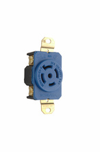 20 Amp NEMA L2120 Single Receptacle, Blue