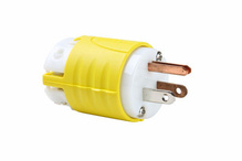 15A, 125V Extra-Hard Use Spec-Grade Corrosion-Resistant Plug, Yellow & White