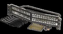 Shielded 48 port unloaded panel angled - use with TKS6A keystone jacks - 2RU - 3.5x 19