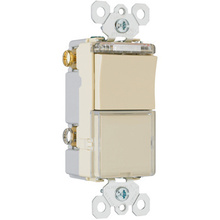TradeMaster Decorator Combination Switch, Light Almond