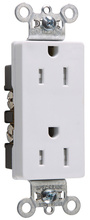 TR26242W Tamper-Resistant Decorator Spec Grade Receptacle,Side Wire Only, 15A, 125V, White