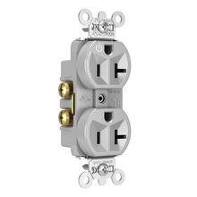 Hard-Use Spec Grade Plug Load Controllable Receptacle, 20A, 125V, Gray