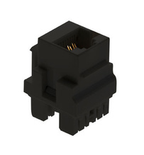 Cat 5e Keyed RJ45 Keystone Connector, Black