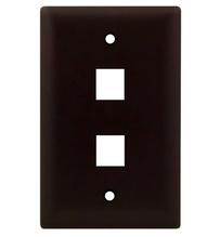1-Gang, 2-Port Wall Plate, Brown