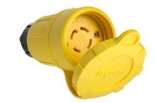 29W76 Watertight NEMA 4X/6P Locking Connector,Yellow