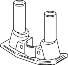 RC7 Multi-Service Assembled Poke-Thru Device Communication Adapter