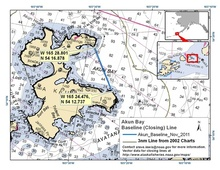 Akun Bay - Aleutian Islands - 3nm Line