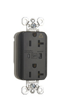 PlugTail® Isolated Ground Surge Protective Duplex Receptacle, Black