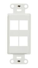 4-Port Decorator Outlet Strap, White