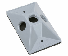 Outdoor Lamp Cluster Cover for Single Gang Box, White