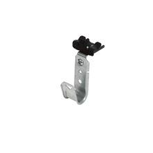 3/4'' JHook Wide/ret - 90 deg swivel knockon beam clp 1/8''-1/4'' - Box of 50 [F000617]