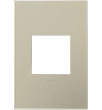 adorne® Titanium One-Gang Screwless Wall Plate