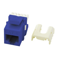 Cat 6 Quick Connect RJ45 Keystone Insert, Blue