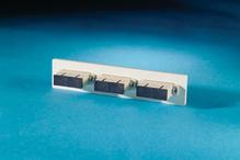 Fib-Cop II Bottom Adapter Plate, 3-SC Duplex (6 Fibers) Multimode, Beige adapters