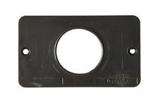 "1-Gang 1.39"""" Diameter Single Receptacle Cover Plate, Black"