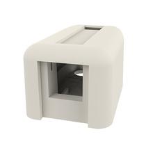 Keystone Plastic Surface Mount Box - Single Port - Fog White