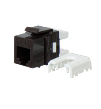Quick Connect RJ25 6-Position, 6-Conductor Telephone Keystone Insert, Brown