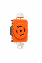 20 Amp NEMA L2320 Single Receptacle, Orange, Isolated Ground
