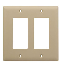 2-Gang Decorator Wall Plate, Ivory