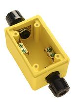 "Watertight Deep Yellow Back Box, 1/2"""" Feed Thru NPT for Duplex Receptacles"