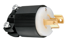 20 Amp NEMA Plug L220 - Black Back, White Front Body