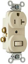 20A, 120/125V Combination Single-Pole Switch & Tamper-Resistant Single Receptacle, Light Almond