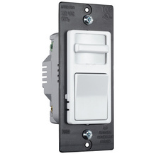 Wide Slide TradeMaster 1100W Preset Incandescent Dimmer, White Interchangeable Face Color