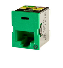 Clarity Cat6a TracJack,T568A/B,8 pos, Green 180 degree