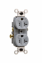 Weather-Resistant Commercial Grade Receptacles, Gray