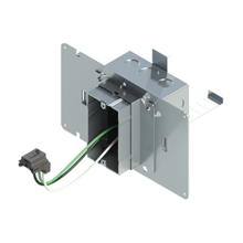 4'' Square Box with 1-Gang Adj. Plaster Ring and 1 Grounded PlugTail Receptacle Connector with protective mud cover - Box of 10 [EF000063]