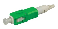 SC APC reusable connector, field-installable, single-mode