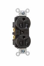 Tamper-Resistant Hard Use Spec Grade Receptacle, Back & Side Wire, 20A, 125V, Black