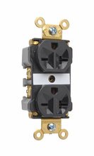 Industrial Extra Heavy-Duty Spec Grade Receptacles, Back & Side Wire, 20A, 250V, Black