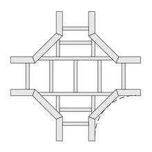 LD-7400-1012-24 FG HORZ CROSS 12''R 24''W