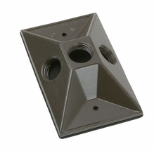 Outdoor Lamp Cluster Cover for Single Gang Box, Bronze