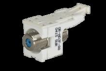 HDJ F Connector, F/F 75 Ohm, Cloud White