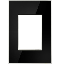 adorne® Mirror Black One-Gang-Plus Screwless Wall Plate