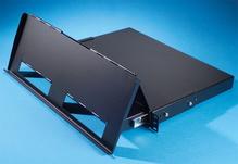 Folding Keyboard Shelf - 19 W x 7 in H x 15.5 in D - 1 rack unit - black