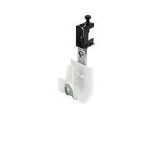 1'' White Plastic Coated J-Hook w/ Latch & 90° Angle Clip Screw-on Beam Clip 1/2'' Box of 25 [F000668]